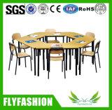 금속 프레임 목제 학생 책상 및 의자 교실 가구 (SF-102S)