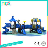 Голубое и серое напольное оборудование спортивной площадки для малышей