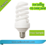 El ahorro de energía de la luz de lámpara de 15W18W E27 gran espiral Completa Lámpara compacta de iluminación en espiral