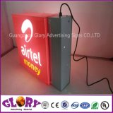 Segno di giro girante rotondo della casella chiara di marca di Airtel