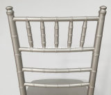 Серебряный алюминиевый стул Chiavari Тиффани для приемов по случаю бракосочетания (JY-J04)