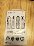 Li-ion USB bateria recarregável AA 1,5V pilhas 1200 mAh