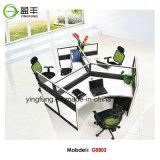 オフィスの木の家具のアルミニウムモジュラー事務机Yf-G0803