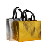 La impresión de Nonwoven Tejido laminado oro polaco Bolsa de compras