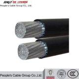 Qualitäts-zusammengerolltes Kabel ABC-Luftkabel