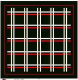 검사된 패턴 100% 실크 Sacrf