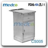 Armário de aço inoxidável de leito hospitalar para uso Wardroom