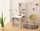 オフィス用家具の本棚が付いている木製のラップトップ表