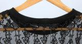 Le nuove donne di modo di arrivo mettono la parte superiore in cortocircuito nera del Coreano del merletto del manicotto