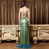 Vert en dentelle Sexy Mermaid Style longue robe de costumes de danse latine Soutien-gorge ensemble Lingerie Sexy Hot lingerie sexy nuisette