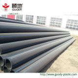 Pipe à haute pression en plastique d'approvisionnement en eau d'extrusion de pipe de HDPE de l'usine 150mm de pipe de HDPE