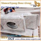 Controsoffitto bianco della cucina del granito del fiume per la cucina/stanza da bagno/barra (YY-MS197)