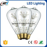 Свет электрической лампочки UL 3W 110V 220V ST64 СИД свободно образца цветастый
