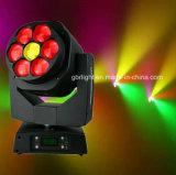 a abelha 7*15W grande Eyes luz principal movente do feixe do diodo emissor de luz de RGBW para a iluminação da barra