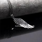De Zilveren Halsband van de Juwelen van de Manier van de tegenhanger van de Vleugel van het Roestvrij staal van de mens
