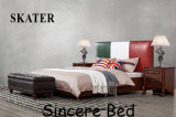 Moderne amerikanische Art-Gewebe-Bett-Leder-Bett-Schlafzimmer-Möbel