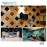 Placa acústica decorativa interior da fibra de poliéster de Retartant da flama para o estúdio