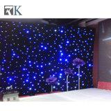 El contexto DJ del LED cubre la cortina de la luz blanca de la decoración de la boda para la Navidad
