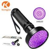 Comercio al por mayor luz púrpura mascotas Ultra Violet la orina de 100 LED Linterna Detector UV