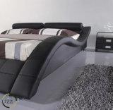 호화스러운 침실 가구 두 배 가죽 침대