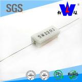 Resistor encajonado de cerámica de la herida del alambre Rx27