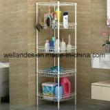 Crémaillère de toilette de chrome en métal de rangée de DIY 3/étagère de salle de bains