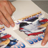 Pubblicità della taglierina di pellicola riflettente che taglia automaticamente tracciatore a stampo tagliente