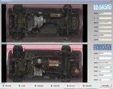 Riparato sotto lo scanner del veicolo per l'hotel, polizia per rilevare sicurezza di veicolo