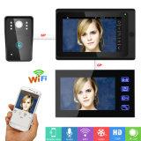 """7"""" 2 мониторами проводной /Wireless WiFi видео звонок двери с помощью проводной системы внутренней связи CCD камера"""