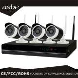 câmera impermeável do CCTV do IP da segurança da rede do jogo de 720p NVR