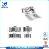 Низкая цена безопасности одевает ярлыки стикеров Barcode