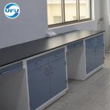 高品質の金属のキャビネットが付いている化学実験室の側面ワークステーション鉄骨フレーム