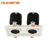 Justierbares 30W*2 LED doppeltes Gitter Downlight