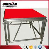 Plataforma retractable de aluminio ajustable de la etapa para el concierto/las demostraciones