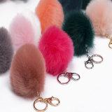 Корейский моды аксессуары мех шаровой цепочки ключей подвесной фо Фокс мех
