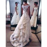 Kurzes Hülsen-Spitze-Hochzeits-Kleid