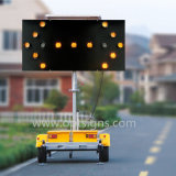 Remorque solaire de panneau de flèche de circulation routière de signe mobile extérieur de la sûreté DEL