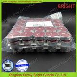 Spitzenhandströmende duftende Tealight Kerzen in der Rand-Alaun-Unterseite