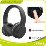 Écouteur sans fil stéréo d'écouteur de Bluetooth de contrôle de musique d'écran tactile