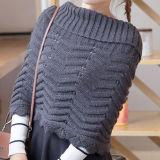 Подогреватель детского питания шеи женщин Без шарфа свитер Вязаная кофта витков зимние трикотажные Snood Poncho (SP605)