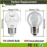 Bulbo equivalente do globo do diodo emissor de luz do bulbo Incandescent 5W 5000K de G14 E26 40W