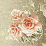 100%Polyester Rose Zerstreung der Sharon-3D druckte Gewebe für Bettwäsche-Set