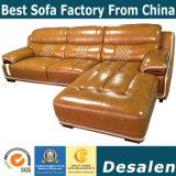 L Form-Wohnzimmer-Möbel-echtes Leder-Sofa (A15-2)