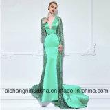 Платье вечера Mermaid V-Шеи длиннее