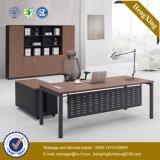 Bureau en bois de patte en métal d'enduit de poudre noire premier (HX-UN056)