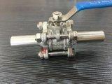 Удлините шариковый клапан 3PCS сварки в стык нержавеющей стали ручной