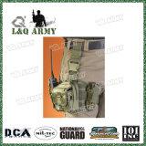 El panel militar de la pierna de la gota de la bolsa táctica de la pierna con las bolsas