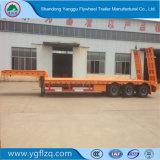 Bajo precio fabricado en China 30t-100t el cuello de cisne Lowbed semi remolque con eje 3