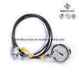 L'huile du flexible hydraulique résistant au flexible d'essai haute pression