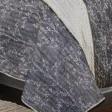 Chiffon colcha de parches de color gris (no6077)